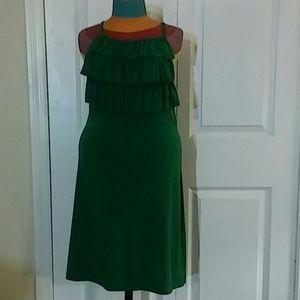 Adorable emerald green dress.